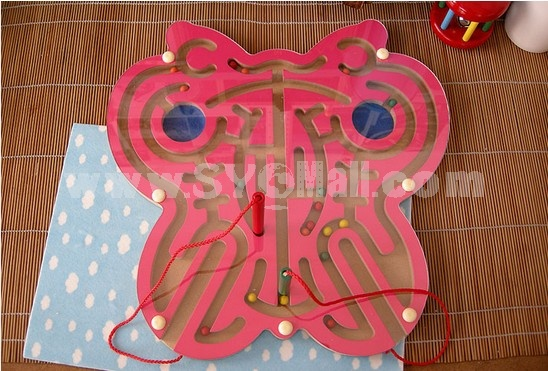 Children Educational Wooden Scarab Magnetic Maze