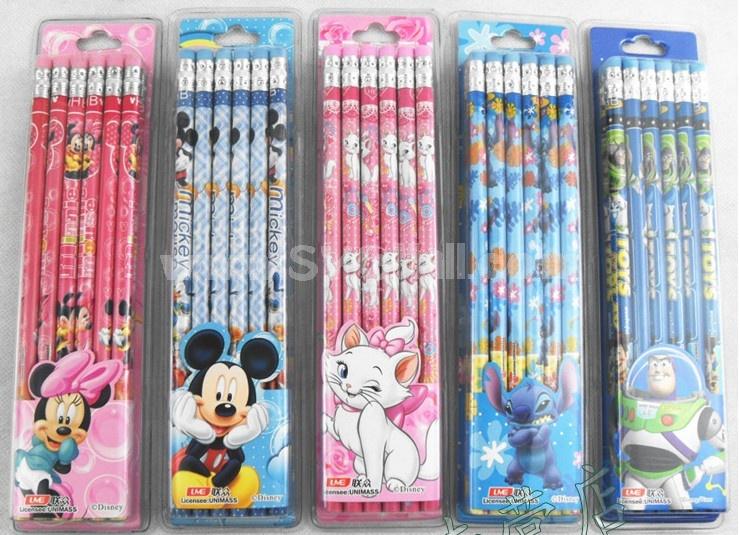Durable Study Stationery Wood Pencils Set/12Pcs