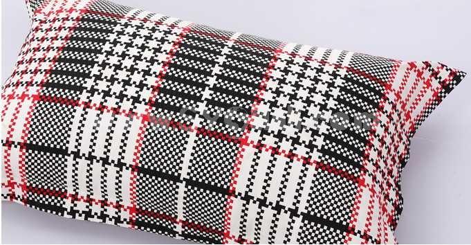 Mercury 4PCs Comfortable Stripe&Gird Pattern Warm Keeping Cotton Beddings