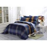 Wholesale - Mercury 4PCs Comfortable Stripe&Gird Pattern Warm Keeping Cotton Beddings