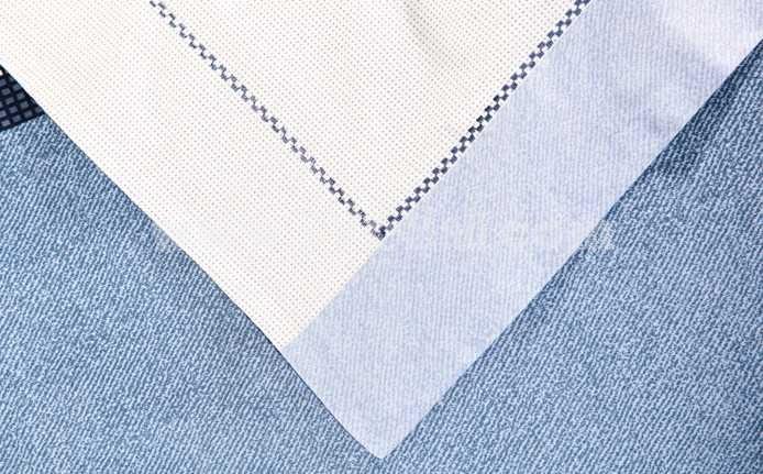 MENDALE 4PCs Comfortable Stripe&Gird Simple Pattern Warm Keeping Cotton Beddings