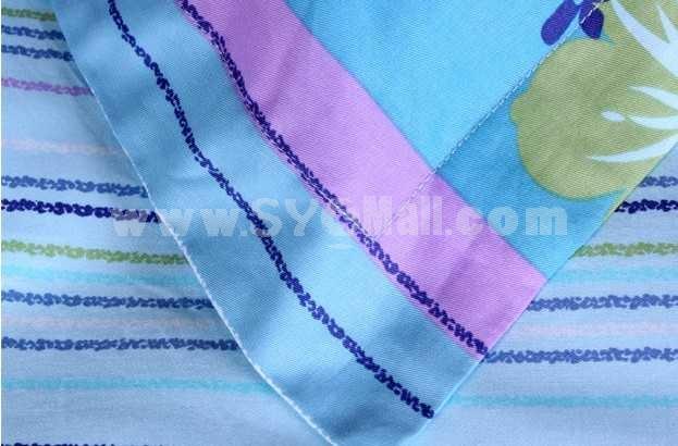 MENDALE 4PCs Comfortable Flora Pattern Warm Keeping Cotton Beddings
