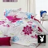 Wholesale - PLAYBOY 4 piece colorful rose bedding set