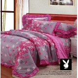 Wholesale - PLAYBOY 4 piece pink flower bedding set