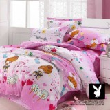Wholesale - PLAYBOY 4 piece happy musical not bedding set
