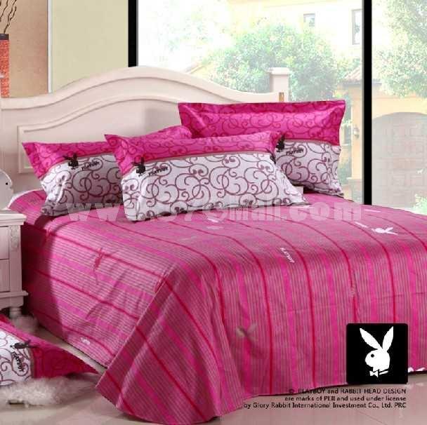 PLAYBOY 4 piece pure cotton bedding set