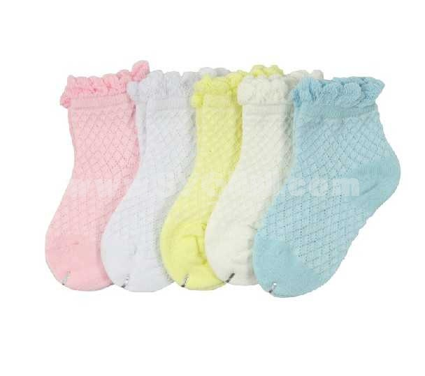 Baby Comfortable Solid Color Summer Lace Cotton Socks