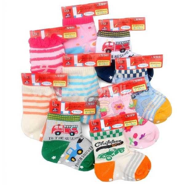 Hot Sale Lovely Cartoon Baby L Shape Antislip Cotton Socks
