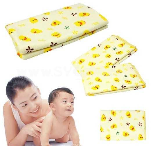 Children Durable Cartoon Multifunction Cotton Urine Proof Bed Sheets 4PCs
