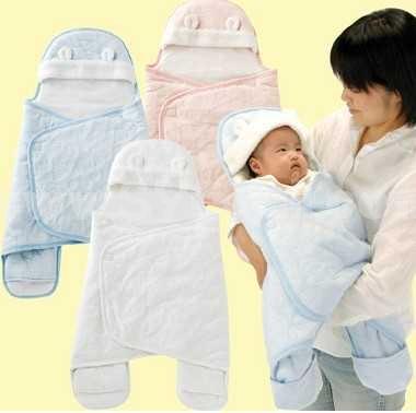 Winter Cartoon Solid Color Cotton Infant Wrap