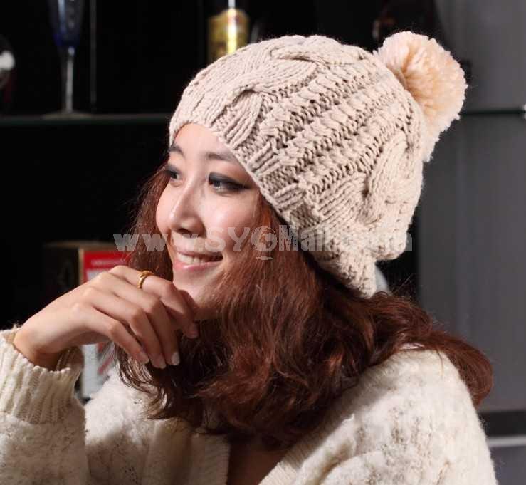 Cute women's preppy look warm hat