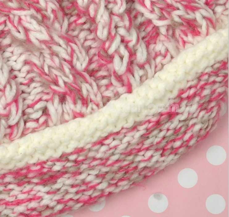 Women's acrylic knitted wart hat