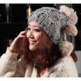 Wholesale - Three ball women's knitted hat