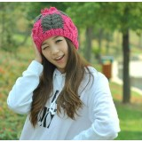 Wholesale - Hand weaving mixed color warm hat