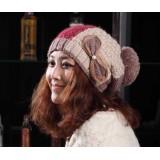 Wholesale - Korean style lace bowknot warm hat