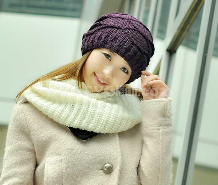 Korean style women's knitted warm hat
