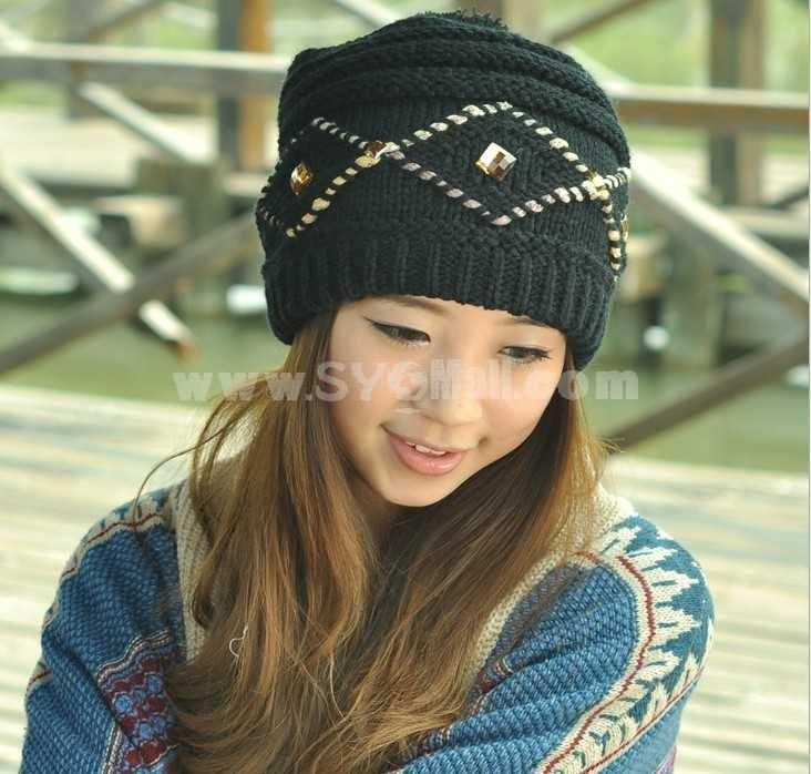 Fashion women's straight warm hat