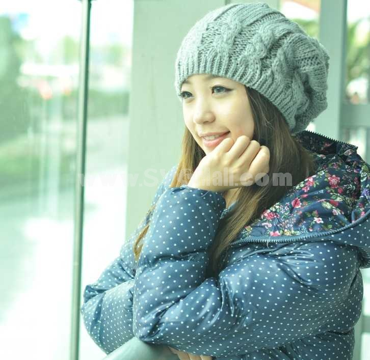 Outdoor acrylic knitted warm hat