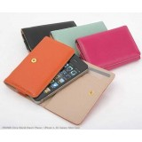 Wholesale - Korea Leather Ultra Shield Wallet Pattern Protective Case for iphone 4/4S