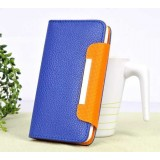 Wholesale - Magnetism PU Leather Pattern Protective Stand Case for iphone 4/4S