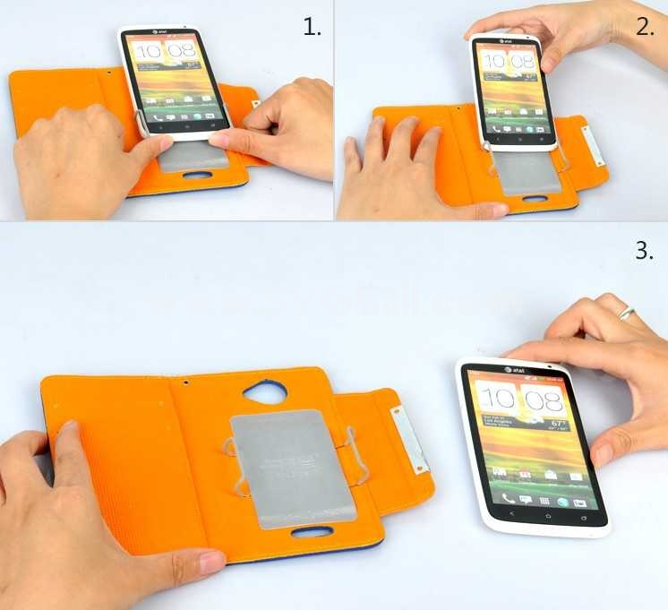 Magnetism PU Leather Pattern Protective Stand Case for iphone 4/4S
