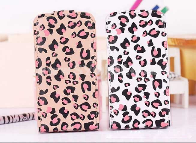Leopard Leather Pattern Protective Case for iphone 4/4S