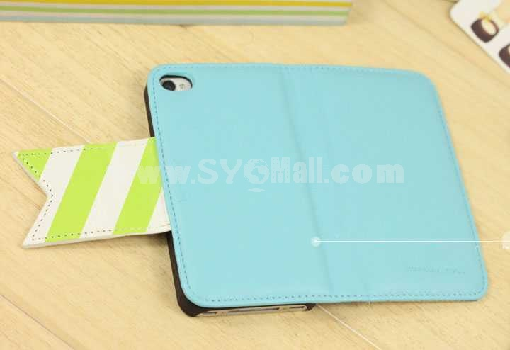 Korea Leather Pattern Protective Case for iphone 4/4S