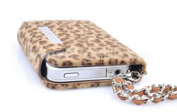 Korea Leopard Leather Pattern Protective Case for iphone 4/4S