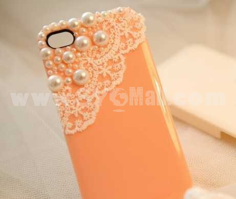 Lace Pearl Handmade Protective Case for iphone4/4s
