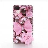 Wholesale - Retro Pattern Rhinestone Handmade Protective Case for iphone4/4s