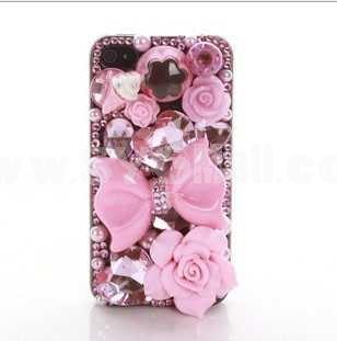 Retro Pattern Rhinestone Handmade Protective Case for iphone4/4s