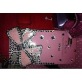 Wholesale - Bowknot Pattern Rhinestone Handmade Protective Case for iphone4/4s