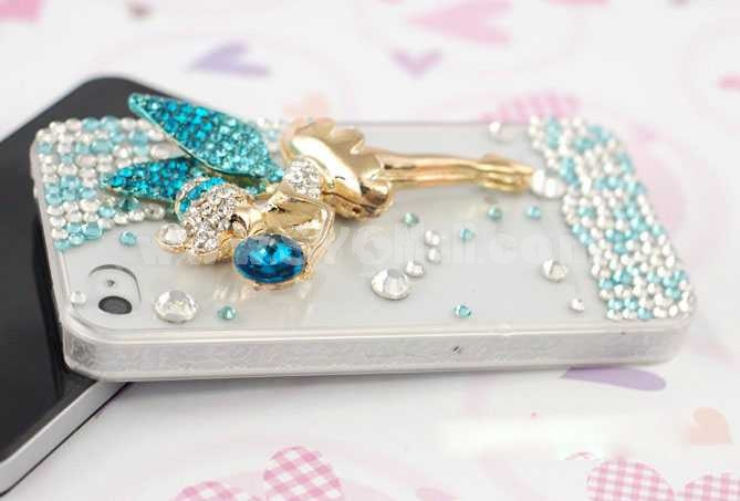 Angel Shape Rhinestone Handmade Protective Case for iphone4/4s