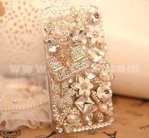 Stylish Rhinestone Handmade Protective Case for iphone4/4s