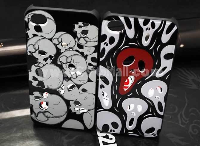 Embossed Skull Protective Case for iphone4/4s