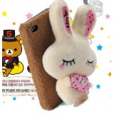 Wholesale - Lovely Lint Love Rabbit Protective Case for iphone4/4s