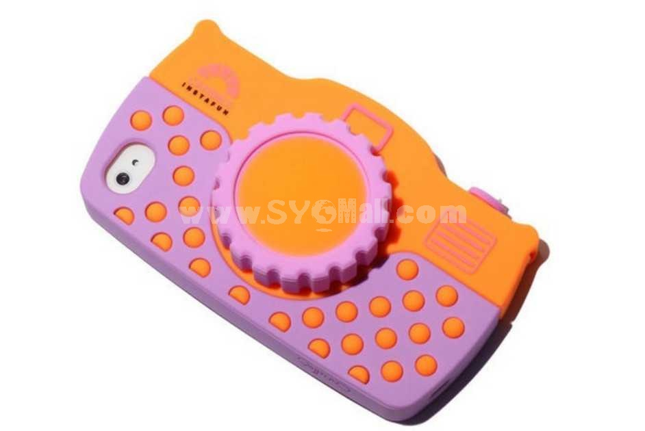 Candies Silicone 3D SLR Shaped Case for iPhone 4/4s