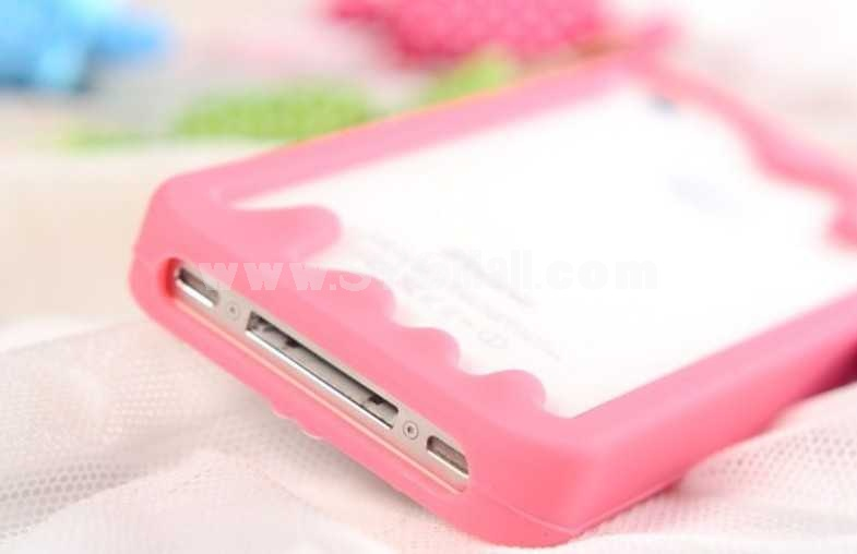 Cartoon Character Silicone Case for iPhone 4/4s