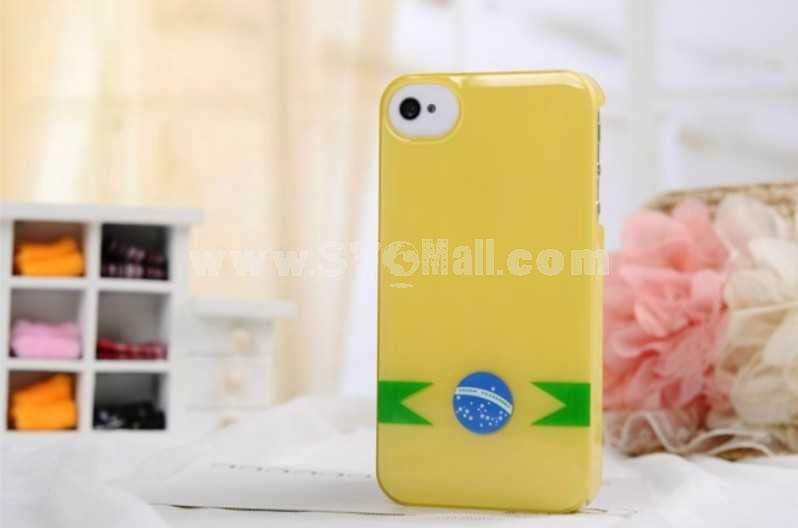 National Flag Pattern Jelly Color Case for iPhone 4/4s