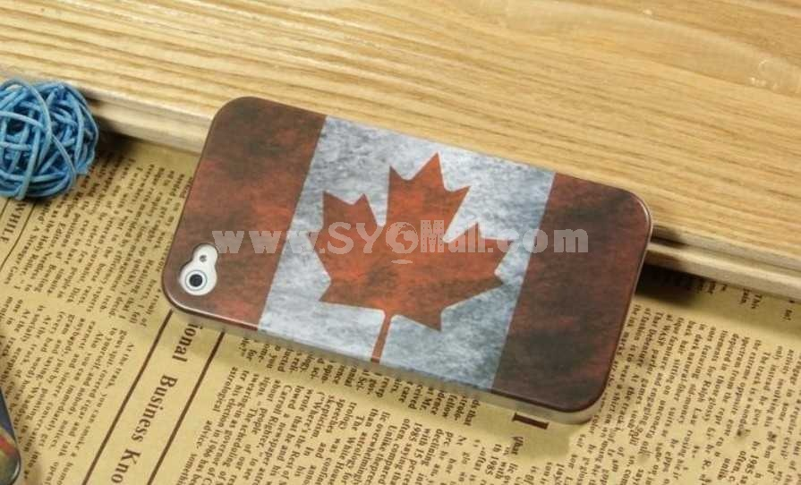 Vintage Style National Flag Pattern Case for iPhone 4/4s