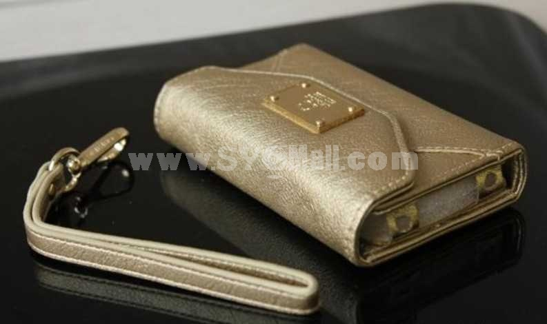 Italian Style Leather Wallet Case for iPhone 4s