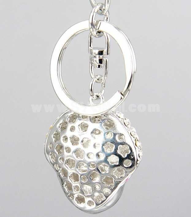 Stylish Mask Pattern Diamonds Keychain