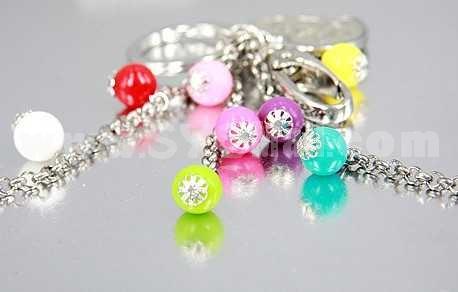 Stylish Heart & Candy Pattern Diamonds Keychain