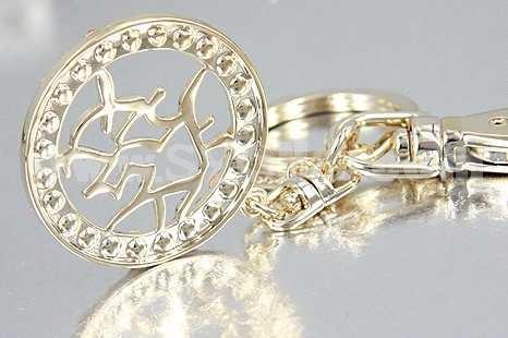 Stylish Chinese Pattern Diamonds Keychain