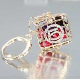 Wholesale - Stylish Box Pattern Diamonds Keychain
