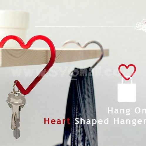 Korea Simple Heart Alloy Keychain