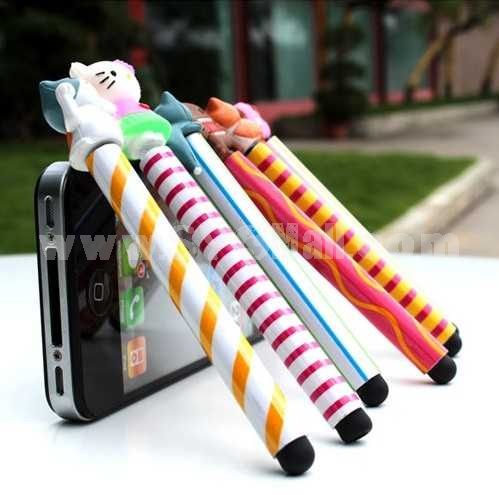 Cartoon Capacitive Touch Screen Pen Dustproof Plug