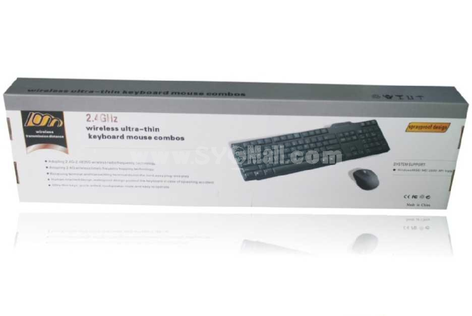 Wireless Ultrathin Keyboard Mouse Combos (H300)