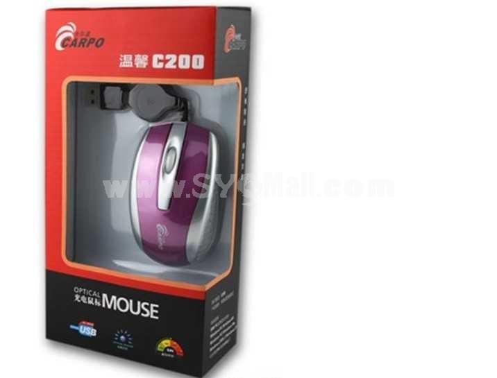 CARPO Retractable Mini Notebook Wireless Mouse (C200)