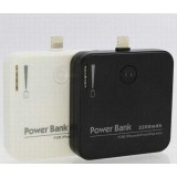 Wholesale - 2200mAh Portable Power Bank Special Design for iPhone 5 Port